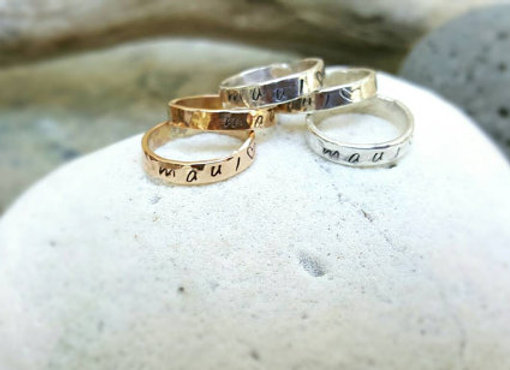 Sterling Silver Toe Rings 'Maui love'