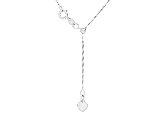 Diamond Cut Sterling Silver Slider Chain