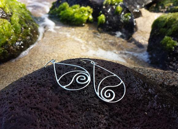 Sunset Earrings in Sterling Silver