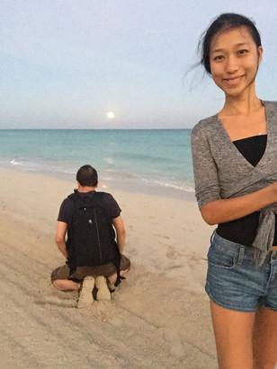 He kneels everywhere