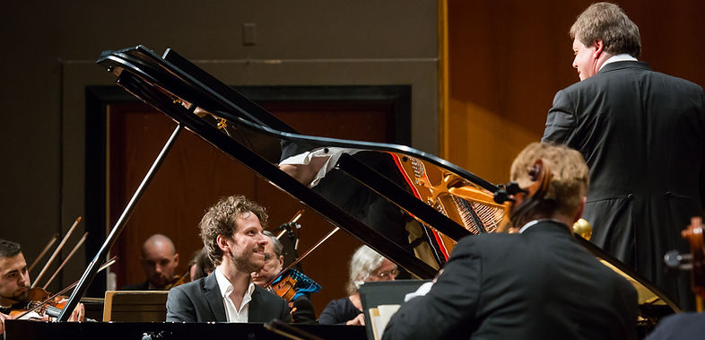Peter Friis Johansson performs with Fairbanks Symphony Orchestra
