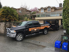 Tow Vehicle with 6' x 14'  Junk Removal Trailer & Bins