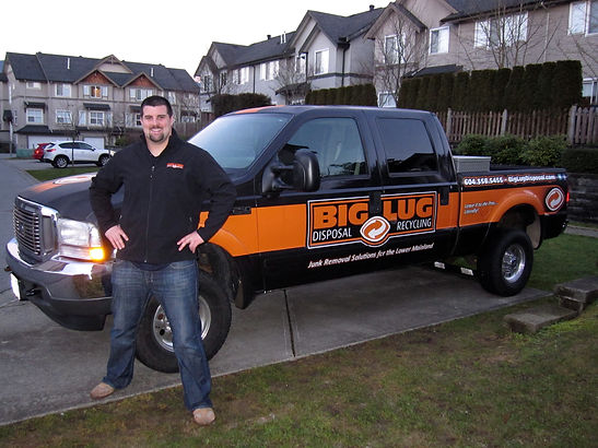 Big Lug branded junk removal tow vehcile