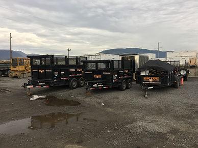 7' x 14' Hydraulic Dumping Trailer