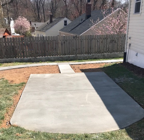 Concrete Patio and Walkway