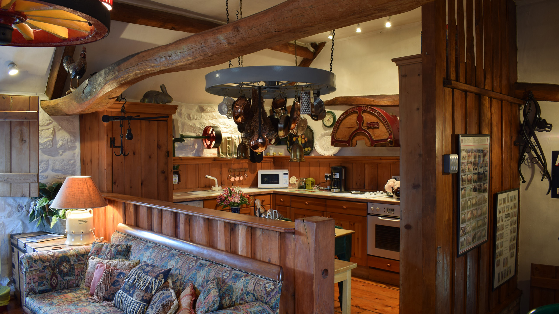 The Old Sheaf Store Holiday Cottage Red House Farm Open Plan Kitchen, Sitting Area, Glaisdale