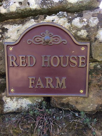 Entrance sign. Red House Farm Glaisdale
