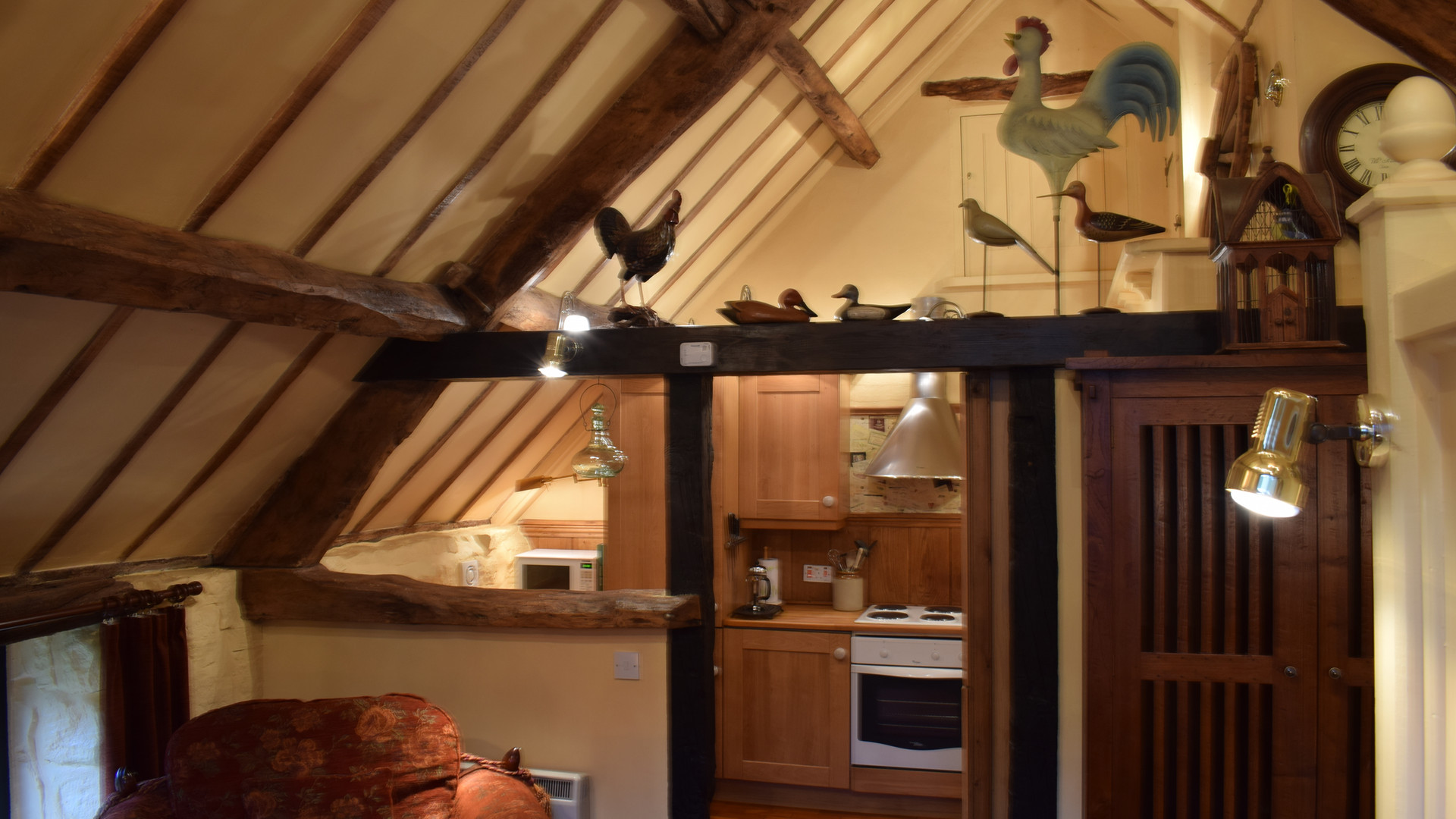 Kitchen and Sitting Area of The Hayloft Studio Holiday Cottage, Red House Farm  Glaisdale