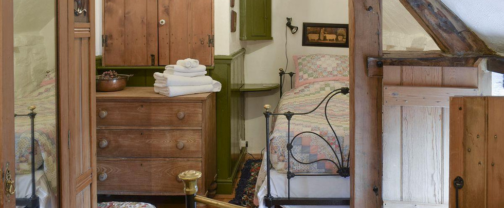 Bedroom. The Threshing Barn Holiday Cottage. Red House Farm Glaisdale