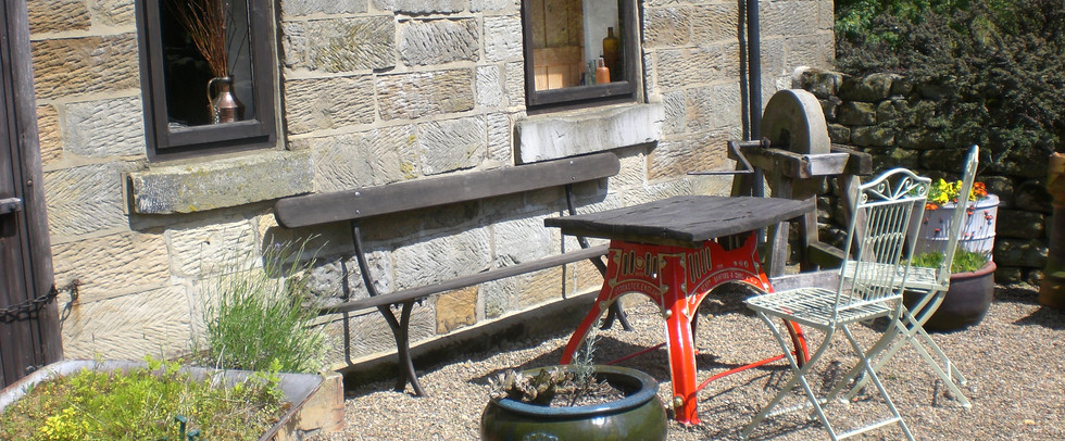 Sitting-Out Area of The Old Sheaf Store Holiday Cottage Red House Farm