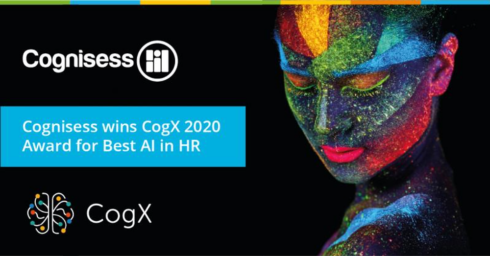 Cognisess wins CogX 2020 Award for Best AI in HR