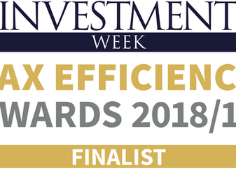 Symvan Capital announced as finalist by Investment Week Tax Efficiency Awards 2018/19