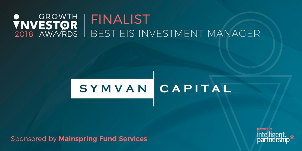 Symvan Capital - Finalist Best EIS Investment Manager - Growth Investor Awards 2018