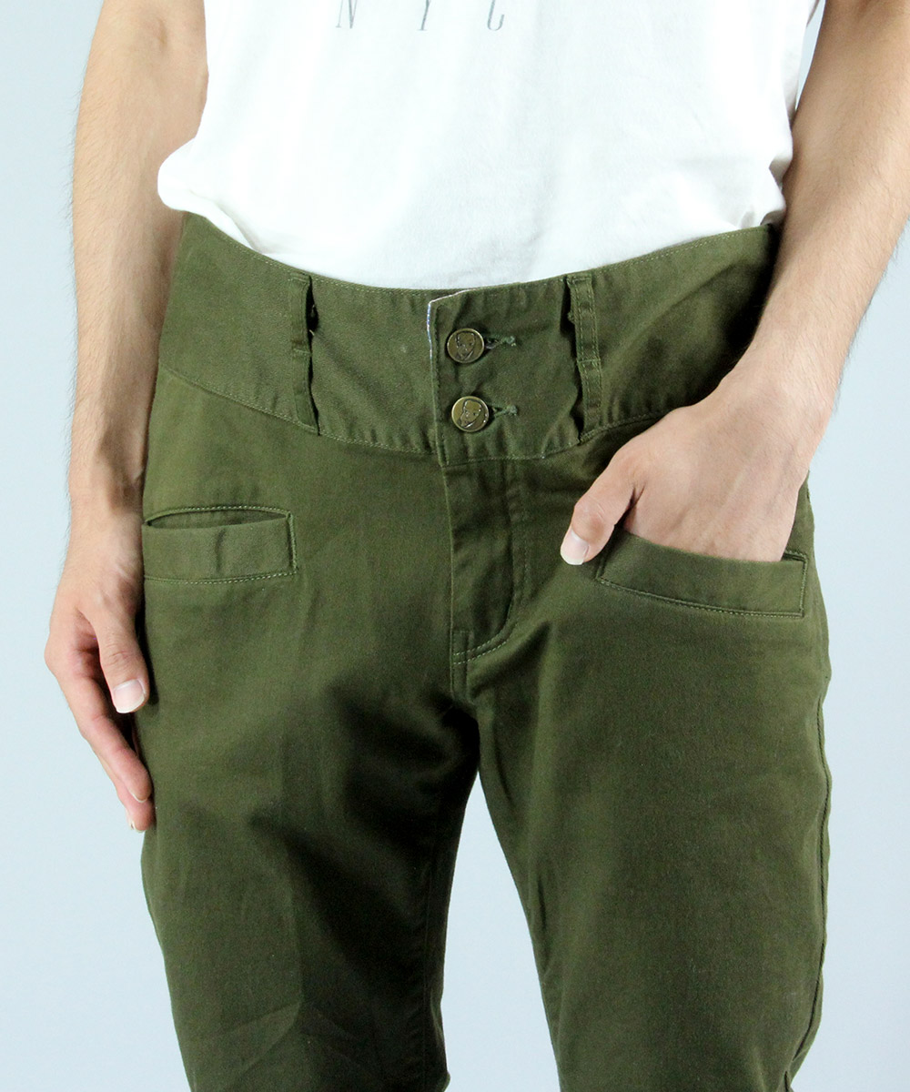 Used twill stretch pants