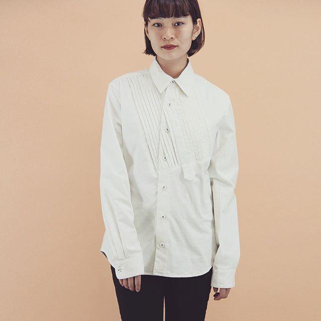 VAIOUS _ビブフロントピンタックデザインシャツ