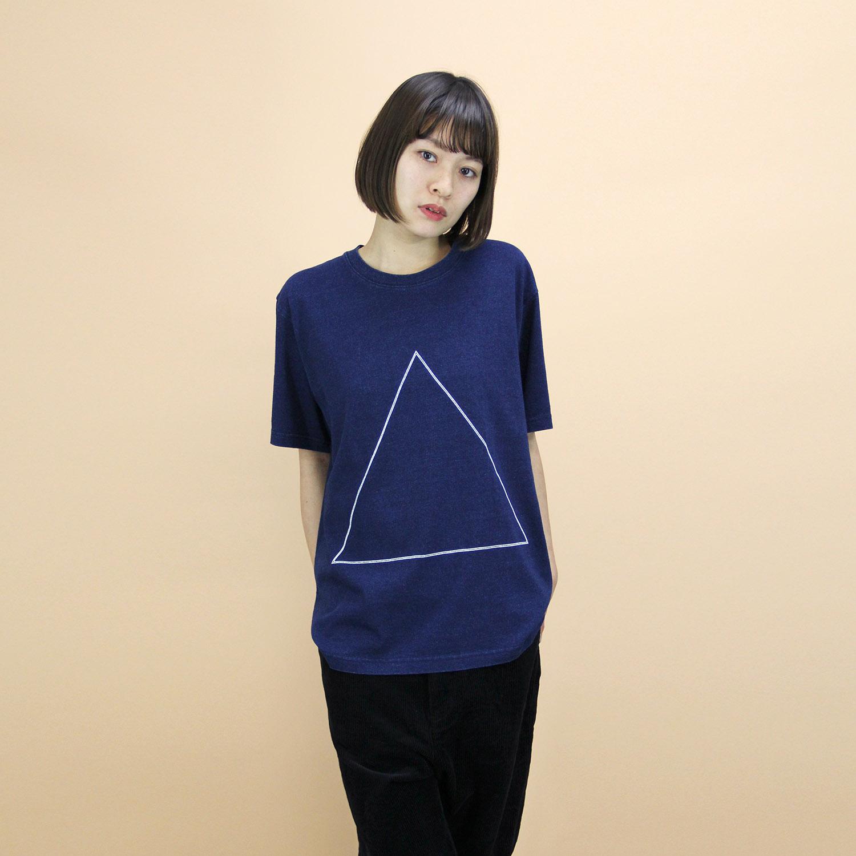 VAIOUS_インディゴプリントTシャツ