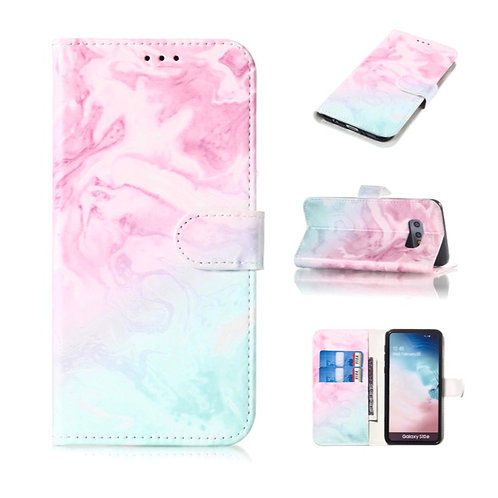 Pink Blue Marble Wallet