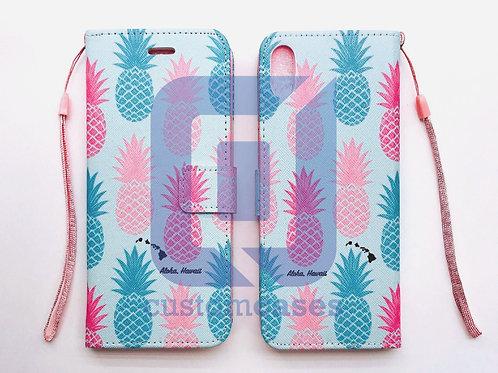 Pineapple Blue Wallet