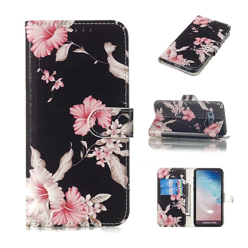 Hibiscus Black Wallet