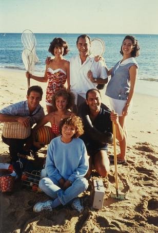 Diane Kurys en compagnie des comédiens du film, Nathalie Baye, Richard Berry, Zabou Breitman, Vincent Lindon, Candice Lefranc, Jean-Pierre Bacri