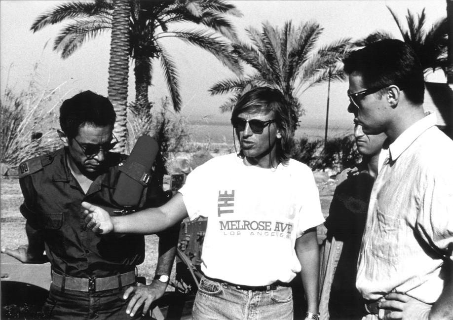 Alexandre Arcady et Richard Berry ; tournage en Israël