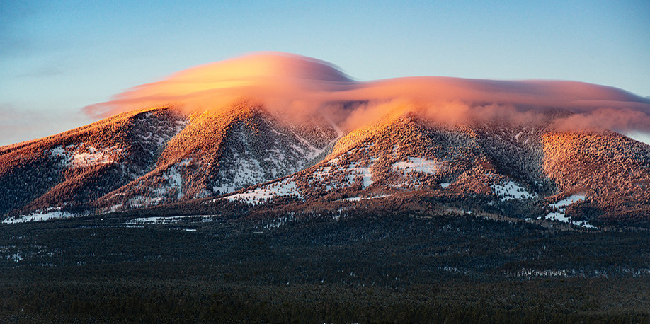 Lenticular Clouds on The San Francisco Peaks