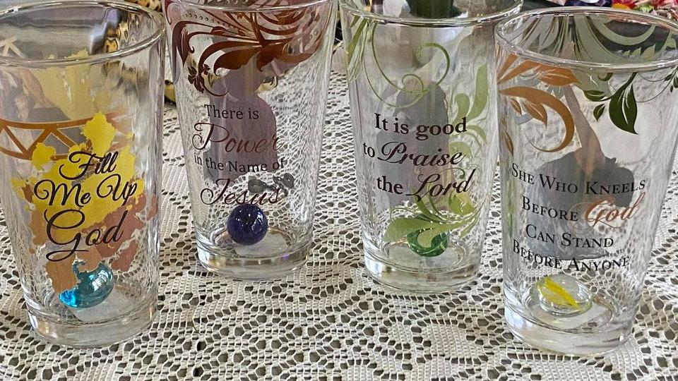Scripture Glasses Set of Four (4)