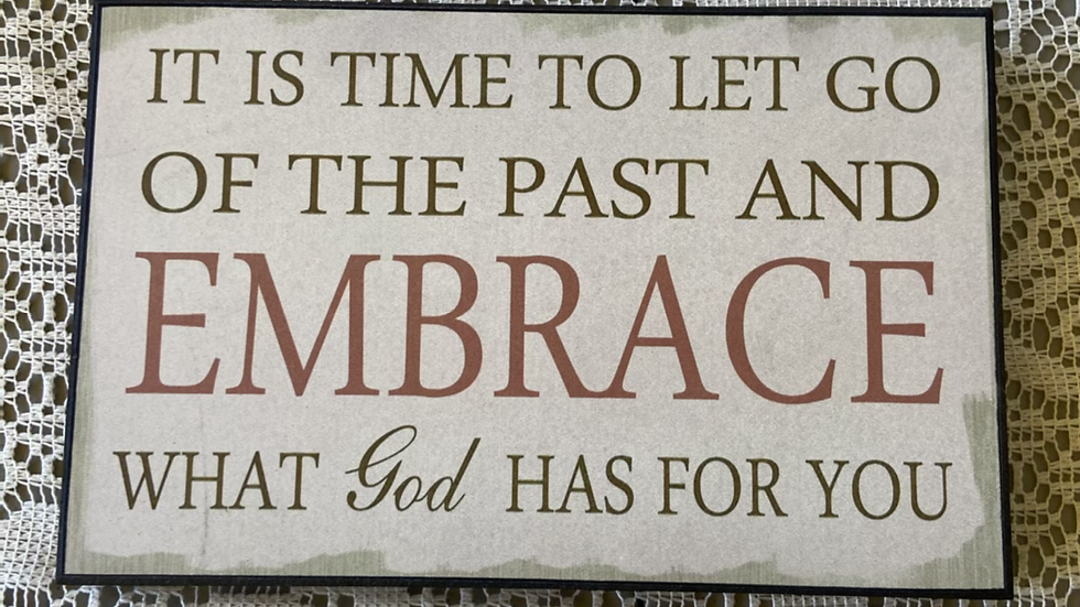 IBTU Embrace what GOD has for You Plaque