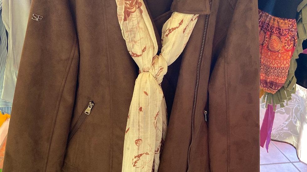 IBTU Genuine Brown Suede Jacket Size Large