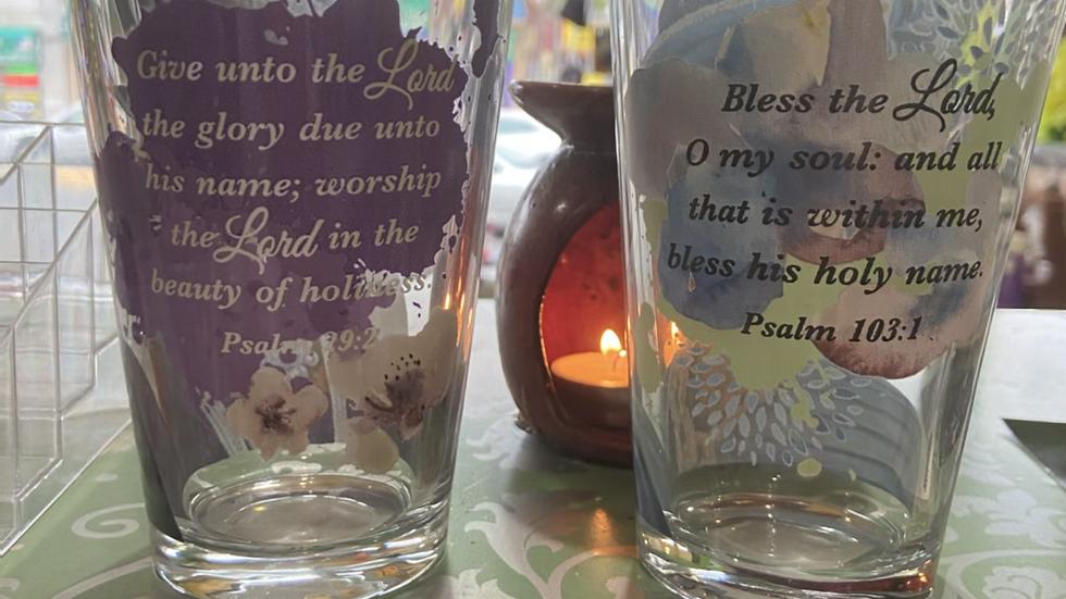 IBTU Scripture Drinking Glasses