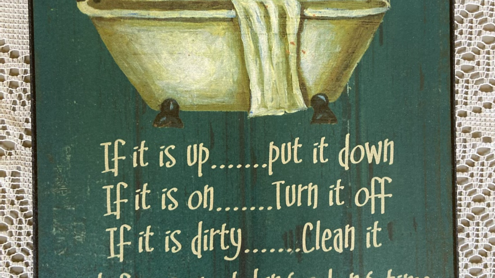 IBTU Bathroom Rules Plaque
