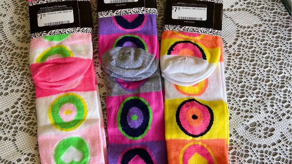 IBTU Knee Hi Colorful Socks
