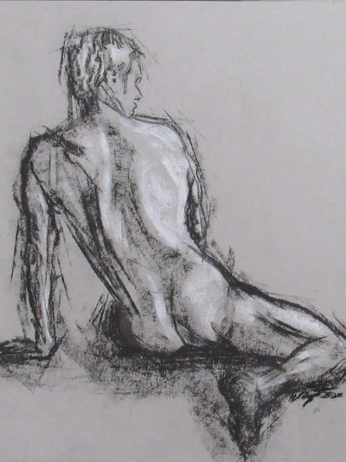Aric Bryant, Male Figure Study from Back