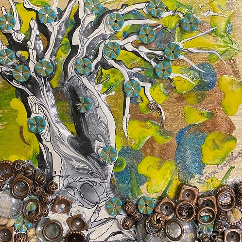 Sara Gondwe, Beaded Flower Tree in Bloom