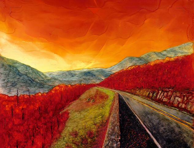 Wanda Crowder, Blue Ridge Parkway Sunset