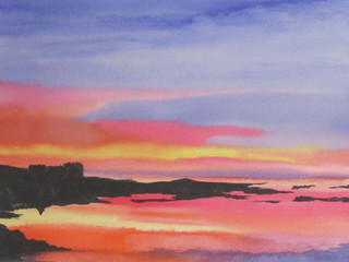Aric Bryant, Sunset over the Sound