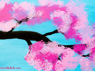 Spring Art Project: Cherry Blossom Painting