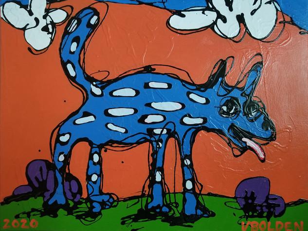 Vernie Bolden Jr, Fire Sky, Blue Dog