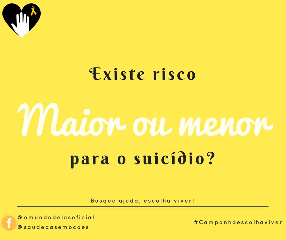 Existe Risco Maior Ou Menor Para O Suicídio O Que Fazer