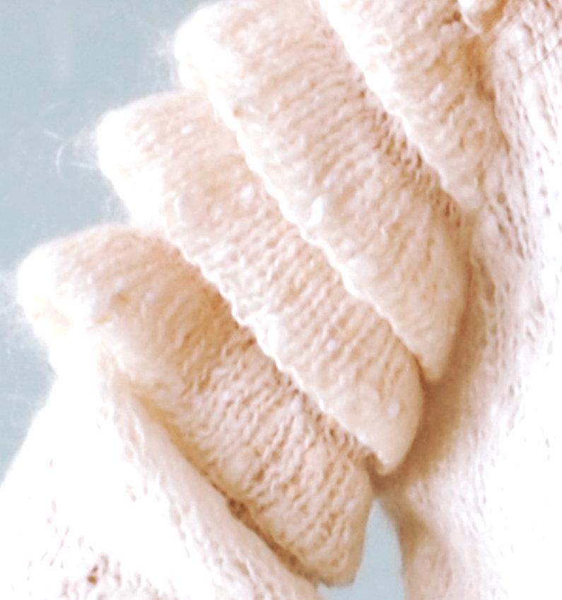 White Sweater Sleeve