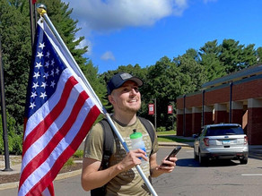 Vet's 70-mile march to honor Kabul victims started in Enfield