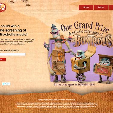 Landing Page - Boxtrolls Movie