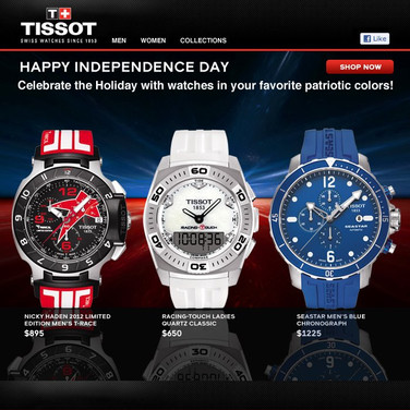 Tissot Email - 4th of July