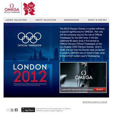 Omega Email - 2012 Olympics