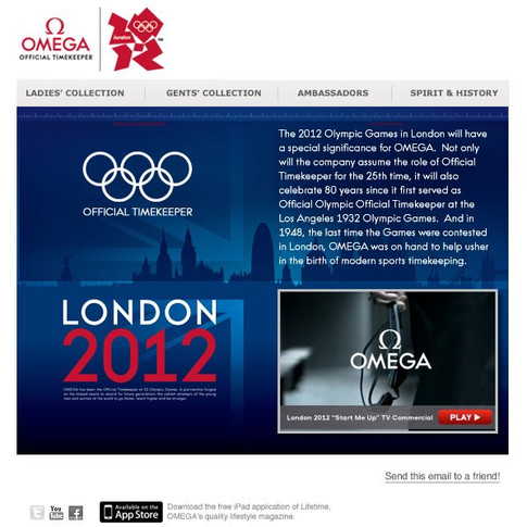 Omega Email - 2012 Olympics