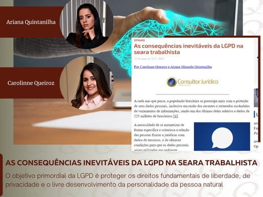 As consequências inevitáveis da LGPD na seara trabalhista