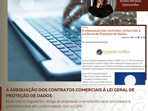 A adequação dos contratos comerciais à Lei Geral de Proteção de Dados
