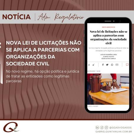 Nova lei de licitações não se aplica a parcerias com organizações da sociedade civil