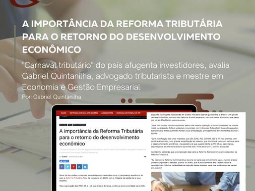 A importância da Reforma Tributária para o retorno do desenvolvimento econômico