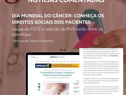 Dia Mundial do Câncer: Conheça os direitos sociais dos pacientes